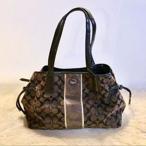 Coach Signature Python Snakeskin Carryall Tote